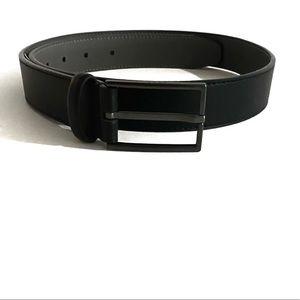 DKNY 32mm black leather belt